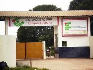 Campus do Ifro em Ji-Paraná (Foto: Priscila Lima/G1)