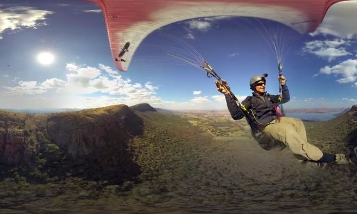 Imagem feita com equipamento da GoPro que filma em 360° graus (Foto: Reprodução/YouTube)