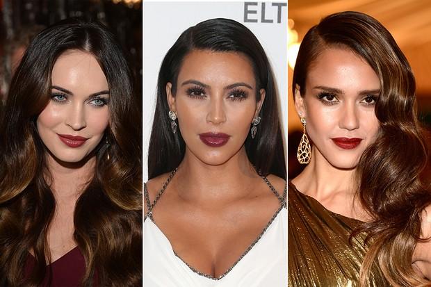 Megan Fox, Kim Kardashian e Jessica Alba (Foto: Getty Images)