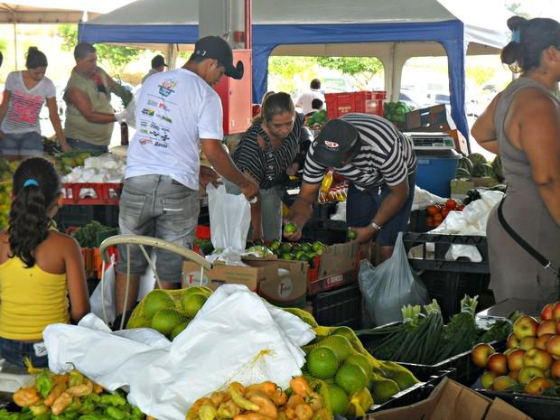 Produtos hortifrutgranjeiros podem faltar no Acre (Foto: Janine Brasil/G1)