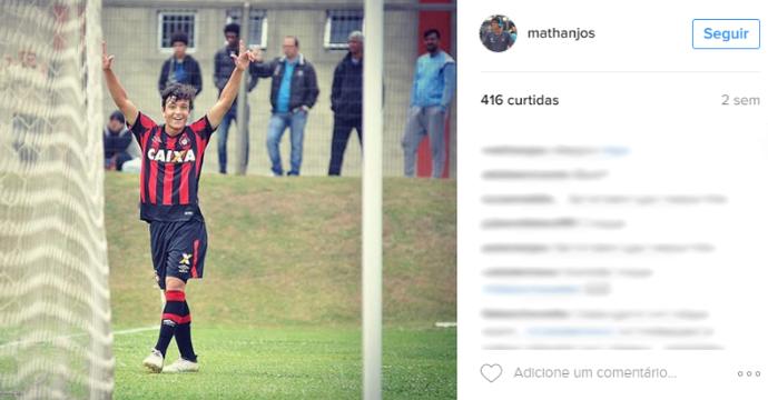 Matheus dos Anjos, Atlético-PR (Foto: Reprodução/Instagram)