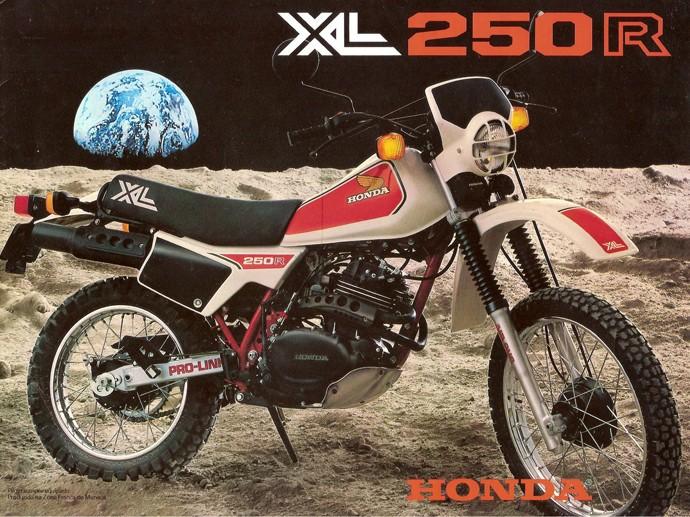 Anúncio da Honda XL 250R