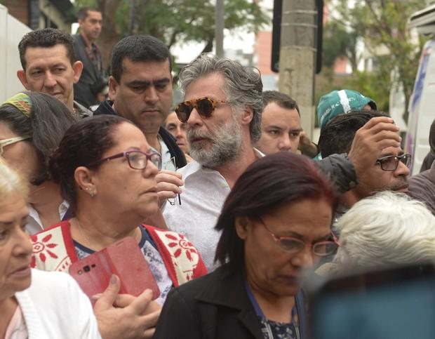 Velório Domingos Montagner - Leopoldo Pacheco (Foto: Francisco Cepeda/ AgNews)