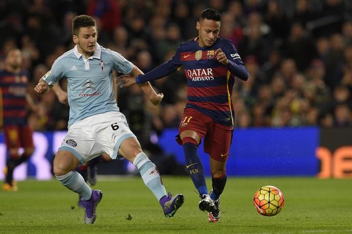 Neymar, Barcelona x Celta de Vigo (Foto: AFP)