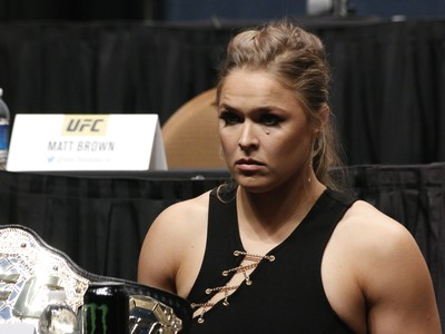 Ronda Rousey Coletiva Go Big UFC (Foto: Evelyn Rodrigues)