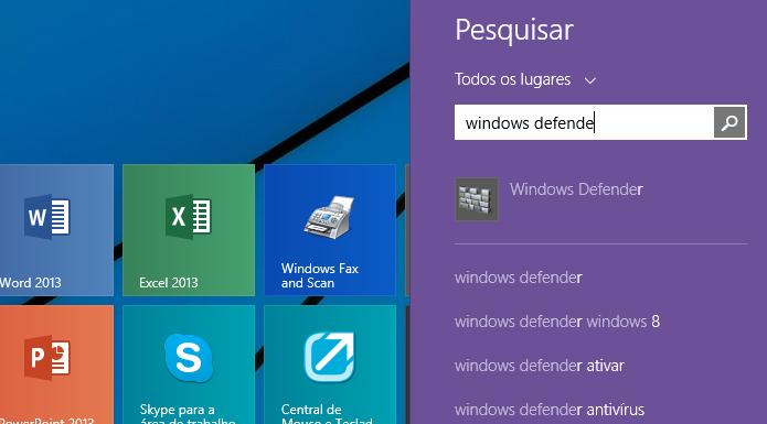 Executando o Windows Defender (Foto: Reprodução/Helito Bijora)