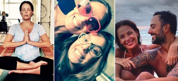 Carolina Ferraz fala sobre a gravidez, yoga, filha Valentina e marido Marcelo Marins (Foto: Reproduo / Instagram)