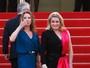 Deneuve e Karlie Kloss usam look metade terninho, metade vestido