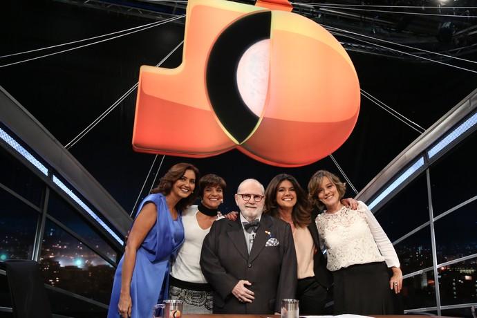 Jô Soares na última gravação do Meninas do Jô (Foto: Carol Caminha/Gshow)