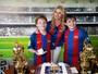 Val Marchiori comemora aniversário dos filhos gêmeos, Victor e Eike