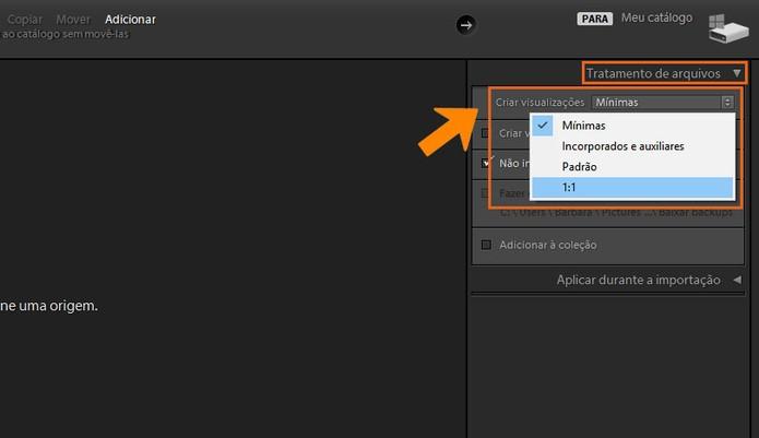 Altere o tipo de preview no Lightroom pelo PC (Foto: Reprodução/Barbara Mannara)