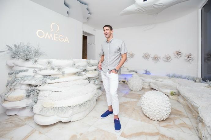 Michael Phelps na Casa Omega (Foto: Divulgação)