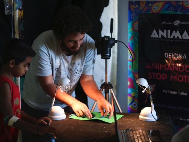 Além das mostras, evento ainda oferece oficinas gratuitas de animação (Foto: Costa Neto/Divulgação)