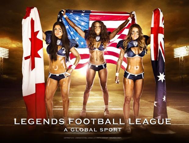 Liga de lingerie de futebol americano (Foto: Divulgação/Facebook)