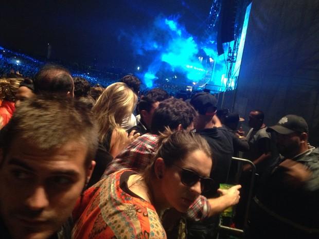 Giane Albertoni no Lollapalooza (Foto: EGO)
