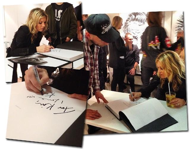 Detalhe do autógrafo de Kate (Foto: Reprodução/Instagram)