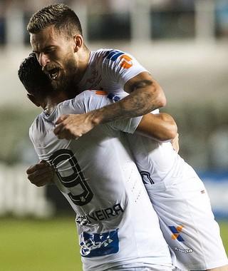 Ricardo Oliveira Lucas Lima Santos x Strongest (Foto: Ivan Storti/ Santos FC)