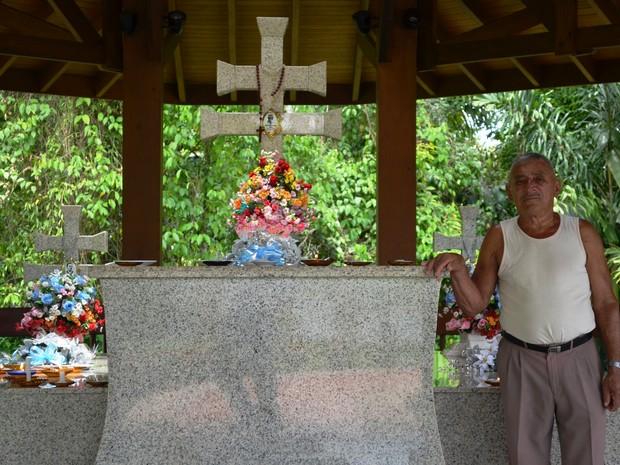 Túmulo de Irineu Serra é um dos mais visitados na cidade de Rio Branco (Foto: Aline Nascimento/G1) (Foto: Edson Chaves/Arquivo Pessoal)