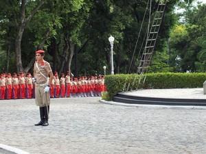 Renan Ferreirinha foi eleito coronel-aluno do Colégio Militar do Rio de Janeiro (Foto: Arquivo pessoal)