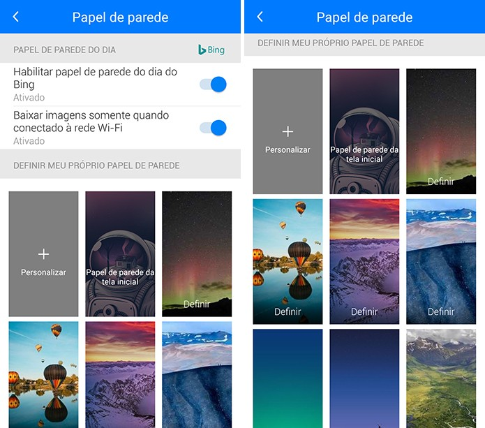 Next Lock Screen traz diversas opções de papel de parede disponíveis gratuitamente (Foto: Reprodução/Elson de Souza)