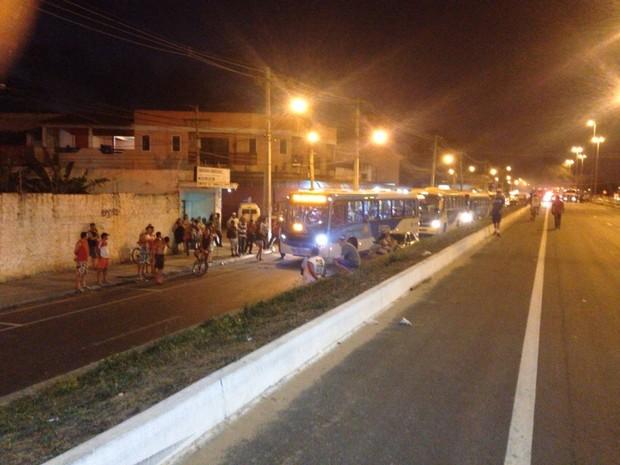 O trânsito ficou completamente parado (Foto: Divulgação/ BPRv)