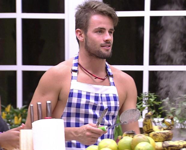 Rafael Cozinhando 12 (Foto: BBB/Gshow)