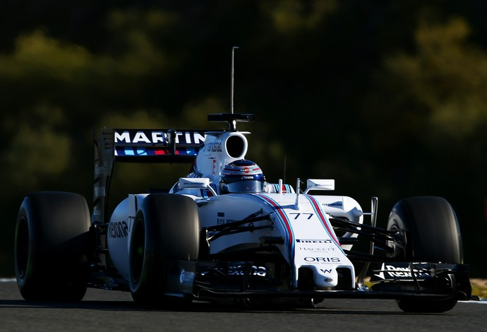 Valtteri Bottas com a Williams no primeiro dia de testes da Fórmula 1 em Jerez (Foto: Getty Images)