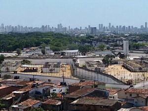 Complexo Prisional do Curado, no Recife (Foto: Everaldo Silva/ TV Globo)