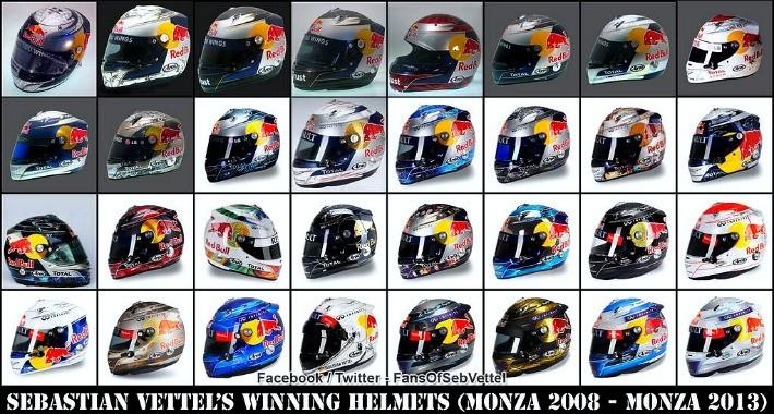 Sebastian Vettel capacetes