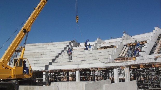 Arena São José Ginásio Obra Construção (Foto: Divulgação)