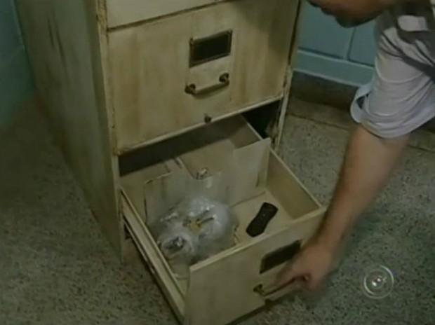 Arquivo do Departamento de Cultura, que deveria ter documentos relacionados à pasta municipal, está vazio. (Foto: Reprodução TV Tem)