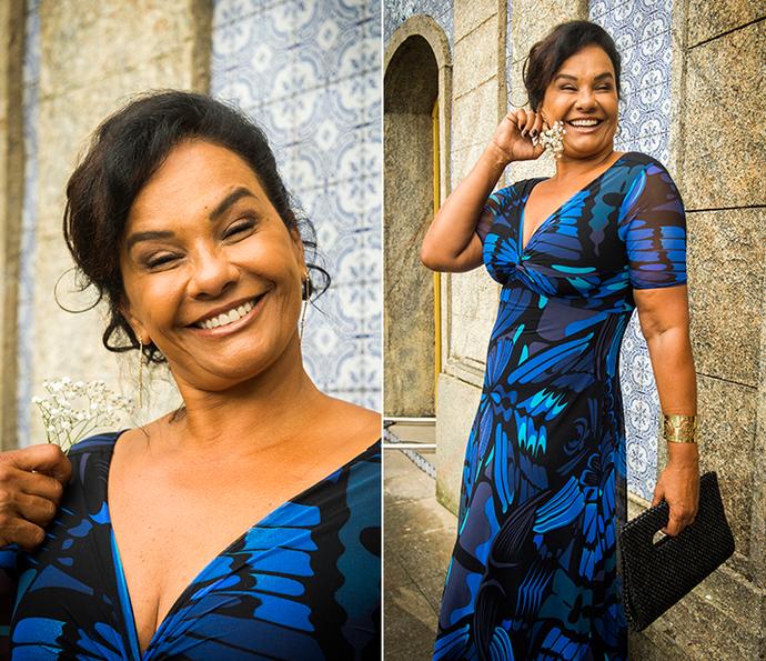 Vanda e seus tons de azul... Linda! (Foto: João Miguel Júnior/Globo)