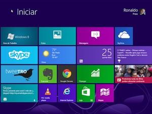 """Nova interface """"Windows 8"""" exibe informações diretamente nos mosaicos (Foto: Reprodução)"""