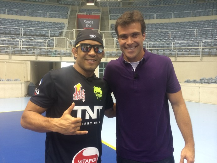 José Aldo e Thiago Asmar (Foto: Jefferson Rodrigues)