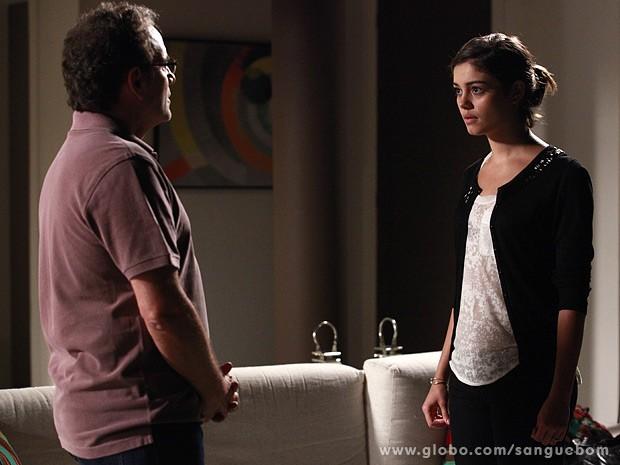 Amora conta a verdade a Wilson  (Foto: Ellen Soares/TV Globo)