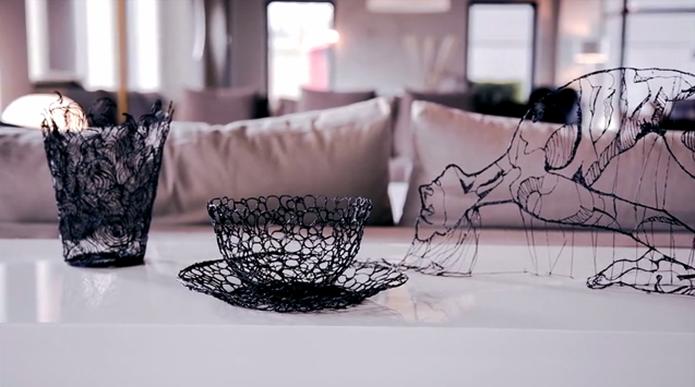 Assim como 3Doodler, produto permite criação de diversos objetos em 3D escrevendo no ar (Foto: Divulgação/Lix)