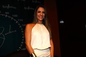 Jade Magalhães, namorada de Luan Santana, antes de show do cantor em São Paulo (Foto: Iwi Onodera/ EGO)