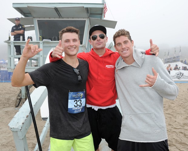 Dylan Efron, Zac Efron e Conor Dwyer (Foto: Noel Vasquez/Getty Images)