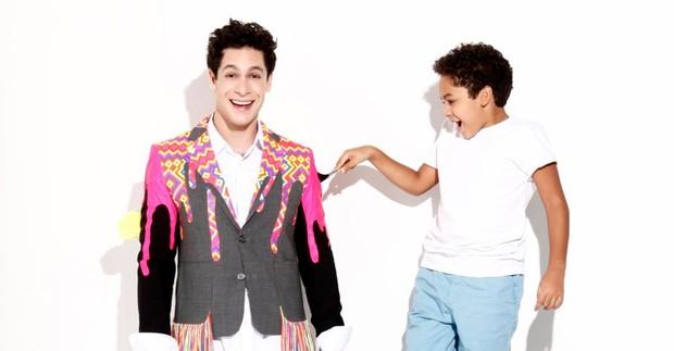Rainer Cadete e o filho, Pietro, em ensaio para o Dia dos Pais (Foto: João P. Teles / Divulgação)