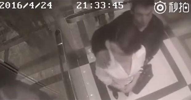 Du Qiao reagiu ao assédio após homem colocar a mão em seu ombro dentro de elevador (Foto: Reprodução/Youtube/PlayWithFire)