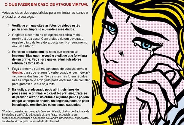 Revenge porn: saiba o que fazer ao ser vítima de um ataque virtual (Foto: Editoria de arte)