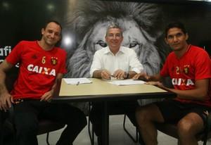 Magrão e Durval Sport (Foto: Willians Aguiar/ Sport)