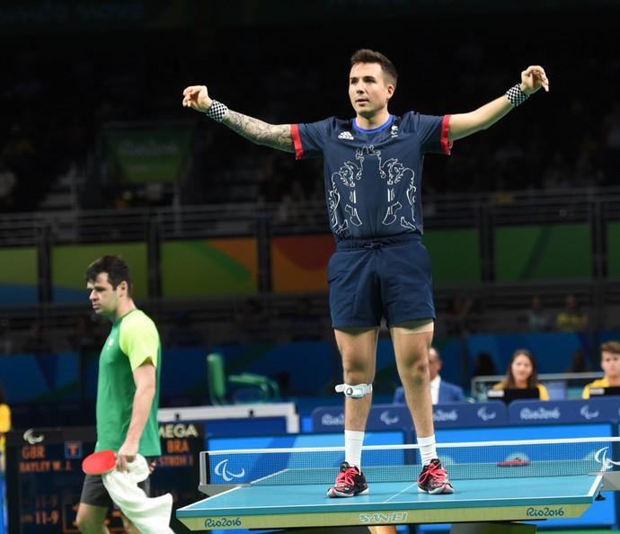 Israel Stroh x Bayley - final tênis de mesa paralimpíada rio 2016 (Foto: André Durão)