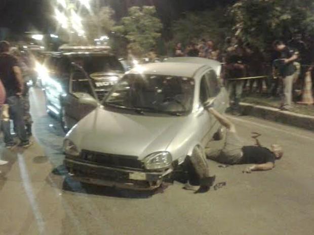 Troca de tiros e perseguição deixaram um policial morto (Foto: Reprodução/PM)