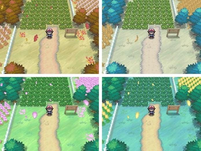 Pokémon Black e White introduziu estações a série (Divulgação/Nintendo)
