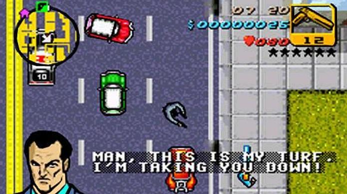 GTA Advance usava truques inteligentes para reproduzir o estilo do GTA original (Foto: Reprodução/Cubed 3)
