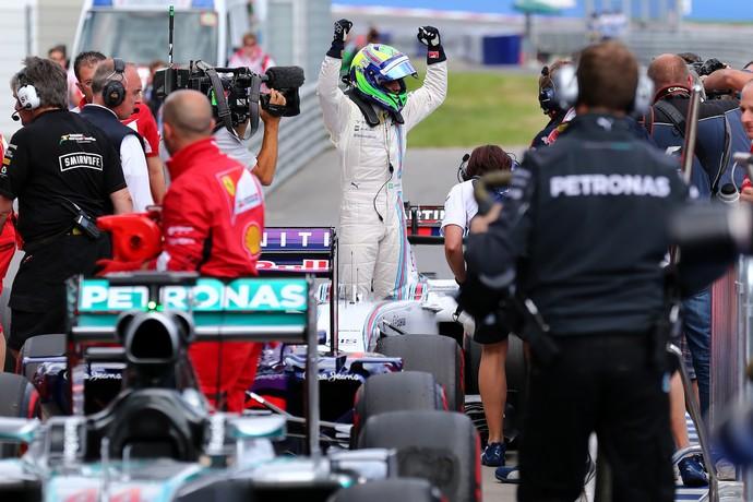 Felipe Massa celebra pole position no GP da Áustria (Foto: Getty Images)