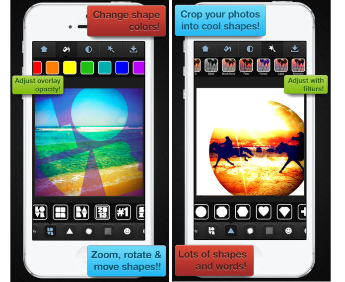 InstaShapes é um app para iOS que permite inserir fotos em formatos de coração (Foto: Divulgação/InstaShapes) (Foto: InstaShapes é um app para iOS que permite inserir fotos em formatos de coração (Foto: Divulgação/InstaShapes))