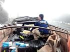 PRF encontra 160 caixas de cigarros em caminhão abordado no Paraná