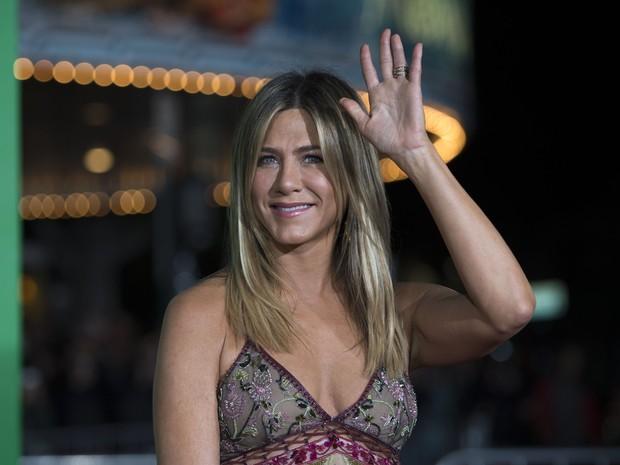 Jennifer Aniston em première de filme em Los Angeles, nos Estados Unidos (Foto: Valerie Macon/ AFP)
